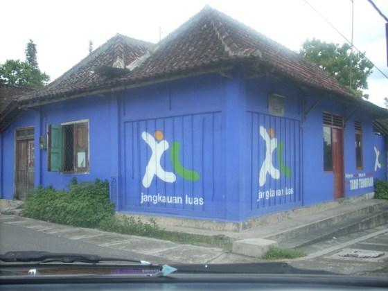 Contoh dinding rumah untuk iklan di jalan wates, Yogyakarta