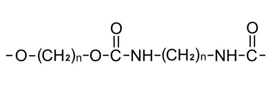 Struktur molekul poliuretan
