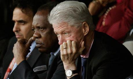 Bill Clinton ikut mendukung tim US
