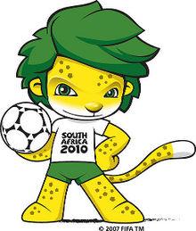 Logo binatang singa pada perhelatan Piala Dunia 2010 Afsel.