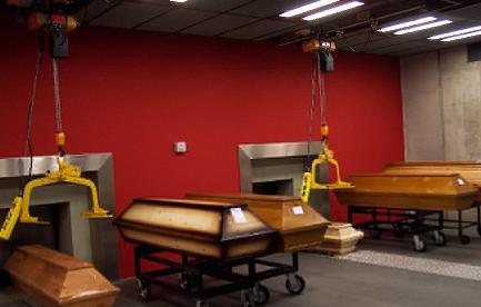 Ruang krematorium modern untuk proses kremasi jenasah