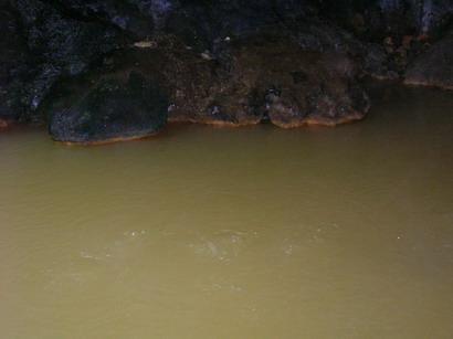 Sumber mata air panas di Pancuran Telu, Baturaden.