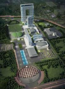 Rencana gambaran master plan komplek gedung DPR.
