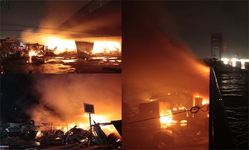 Musibah kebakaran Jembatan Ampera di Palembang.
