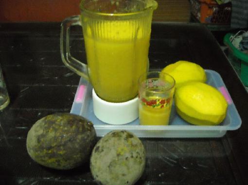 Jus mbawang yang kaya vitamin C.