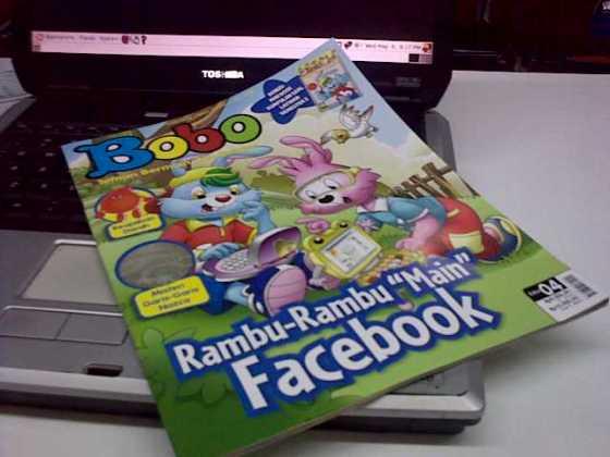 Cover majalah anak-anak yang memuat fenomena facebook.