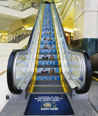 Eskalator untuk iklan.