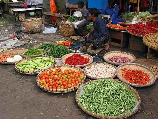 Jualan Cabe di pasar tradisional.