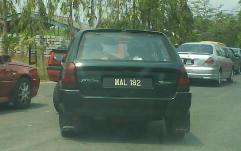 Pelat nomor MAL