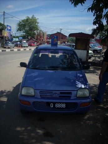 Jerigen penanda mobil dijual.
