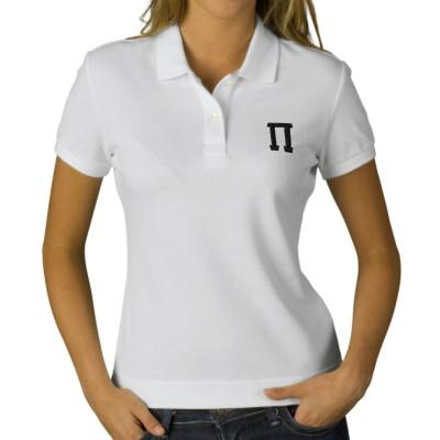tshirt polo dengan simbol phi.