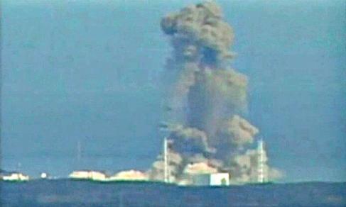 Proses ledakan yang terjadi pada reaktor 3. Gambar 4.