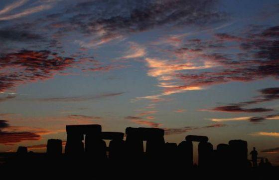 Situs arkeologis Stonehenge di Inggris.