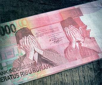 Manipulasi uang bergambar proklamator malu.