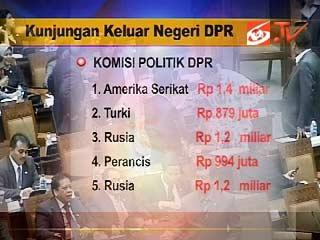 Anggaran studi banding DPR yang fantastis.