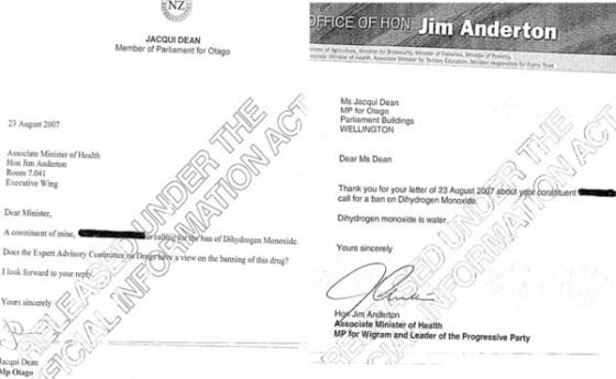 Surat anggota dewan soal konfirmasi nama bahan kimia.
