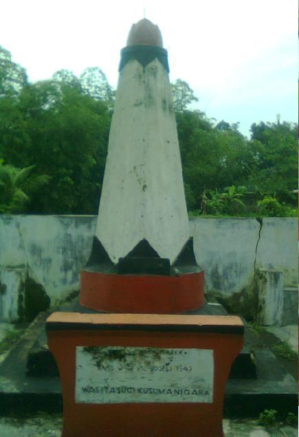 Tugu monumen perjuangan di desa Blater Purbalingga.