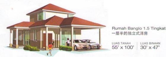 Jenis rumah banglo.
