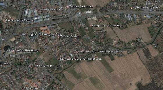 Banyak lokasi taman di sudut kota Kangar.