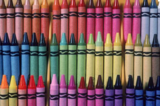 Aneka warna crayon.