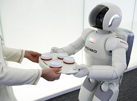 Robot Asimo hasil kreasi perusahaan Honda.
