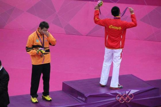 Chong Wei peraih perak dan Lin Dan peraih emas.