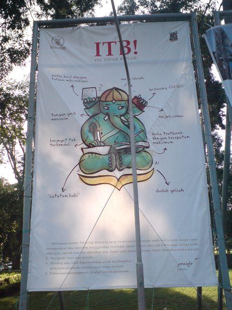 Poster kreatif dari kampus ITB.