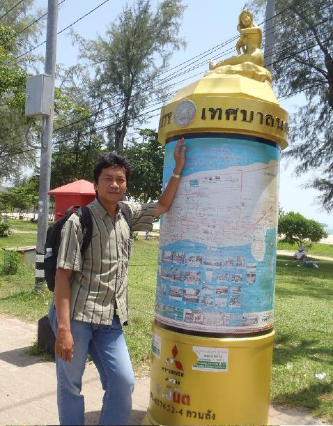 Papan informasi dan peta wisata