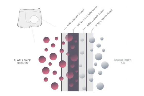 Mekanisme penyerapan senyawa penghasil bau kentut dengan karbon aktif.